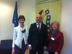 Nils Muiznieks -  Commissioner for Human Rights, Mirela Oprea - ChildPact Secretary General and Conny Lenneberg, World Vision Meero Regional Leader